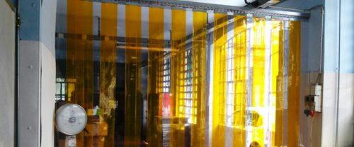 Porta divisoria in strisce PVC Cristal