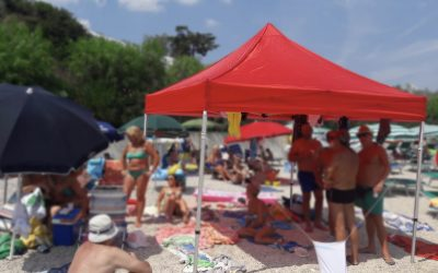Gazebo portatili in spiaggia