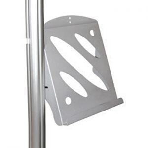 Accessori optional textile frame: porta depliant in acciaio