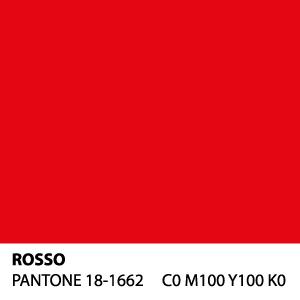 Rosso - PANTONE 18-1662 - C0 M100 Y100 K0