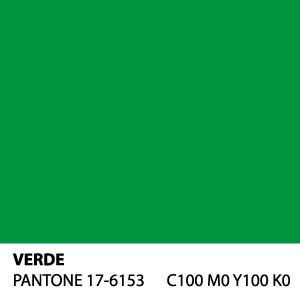 Verde - PANTONE 17-6153 - C100 M0 Y100 K0