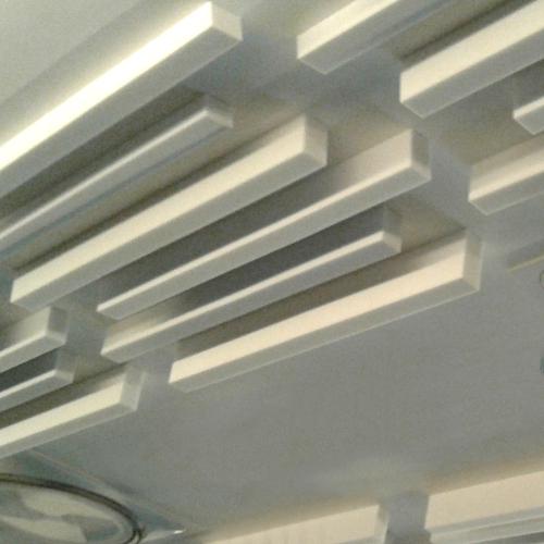 Pannelli fonoassorbenti per soffitto ad arco
