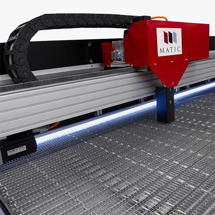 Helios Plus: piano di lavoro per taglio laser