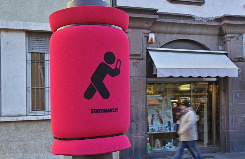 Protezioni antiurto a Bolzano per la campagna Stay Smart