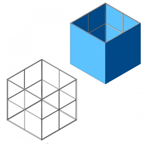 Textile Frame: strutture cubiche